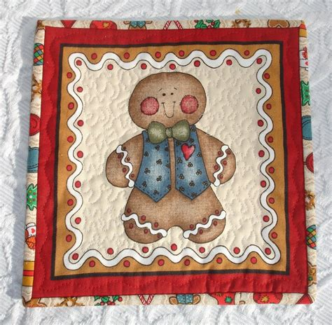 gingerbread rug gingerbread boy and mug rug set