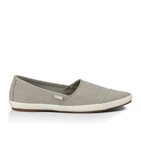 sanuk kats meow s slip on canvas shoes gray 9 ebay