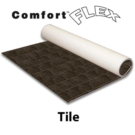comfort tile comfort flex flooring rollable tile trade show booth
