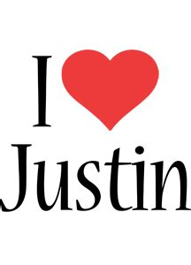 justin logo  logo generator  love love heart