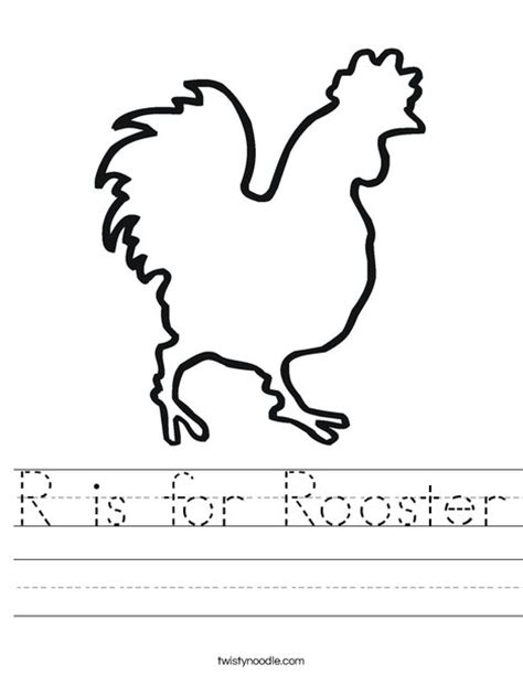 r is for rainbow worksheet twisty noodle r is for rooster worksheet twisty noodle
