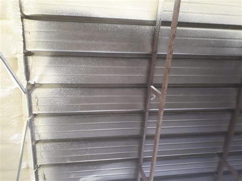 cappotto interno soffitto isolamento termico tetto in lamiera edilchimento