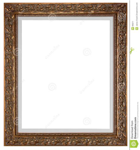 blank picture frame stock image image of artwork gilded
