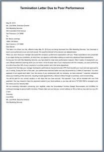 Termination Letter To Employee For Poor Performance by 7 Employment Termination Letter Sles To Write A Superior Letter