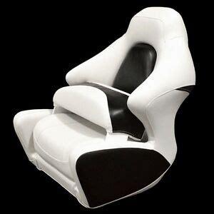 bayliner boat captain chair crownline white black marine boat captains bolster seat
