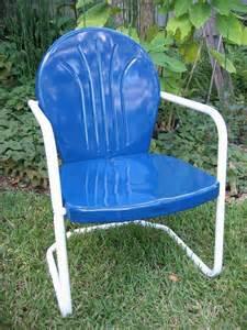 retro metal patio chairs retro lawn chair something in blue