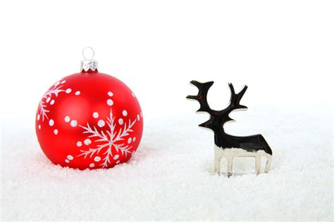reindeer  christmas ball  stock photo public domain pictures