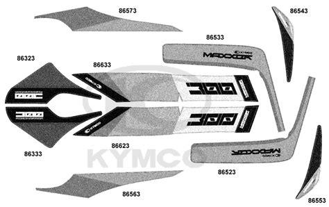 Aufkleber Kymco Roller kymco maxxer 300 supermoto aufkleber embleme ersatzteile