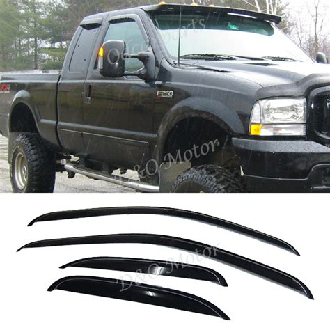 Visor Windshield 250 F1 4pc vent shade window visor for 99 16 f 250 350 450 superduty extended cab