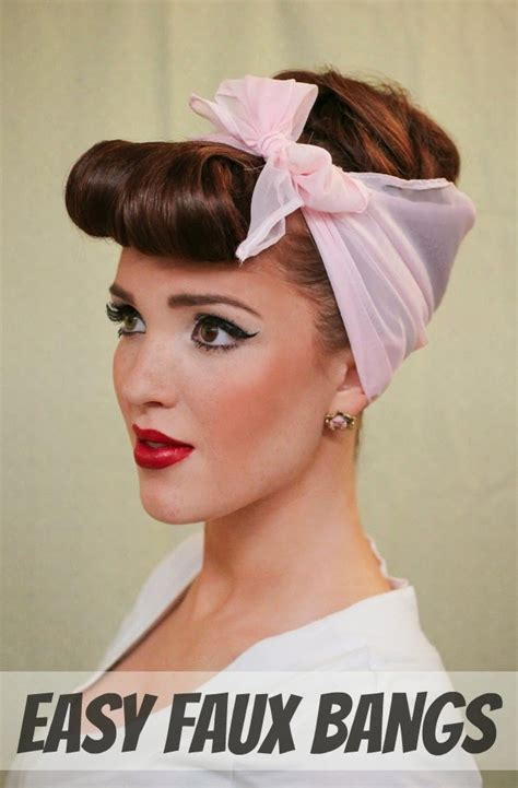 how to do vintage hairstyles rockabilly hairstyles with short bangs for girls