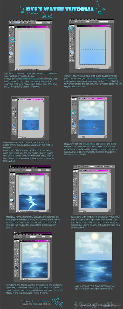 tutorial video digital water surface tutorial by policide on deviantart