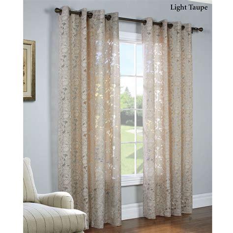 burnout curtain carlotta faux burnout semi sheer grommet curtain panels