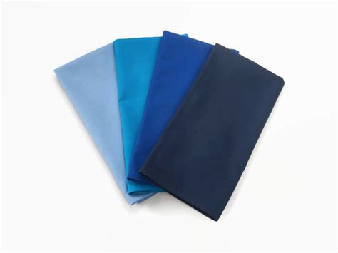 Handmade Napkins - blue cloth napkins handmade from 100 cotton stitched by