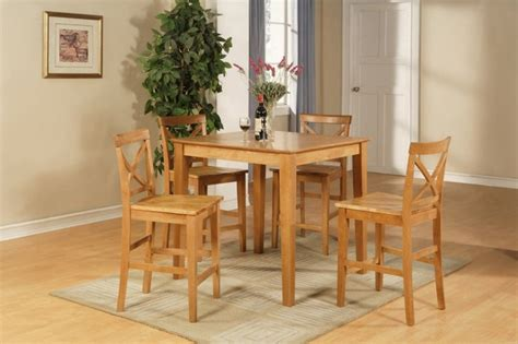 light oak pub table 36 quot square pub set counter height table with 4 wood seat