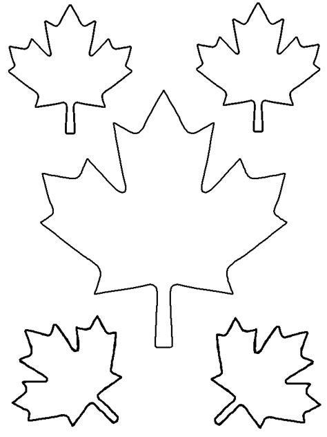 printable small leaves maple leaf printable clipart best