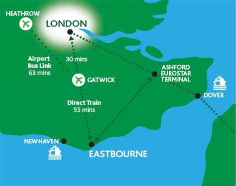 eastbourne map and eastbourne satellite image
