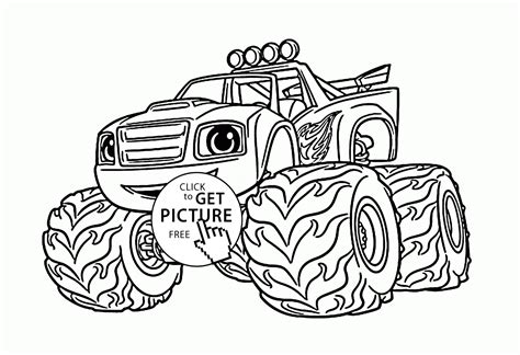 blaze monster truck coloring page blaze monster truck cartoon coloring page for kids