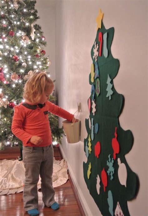 christmas tree diy art for kids diy felt trees for play