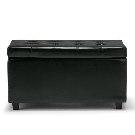 simpli home cosmopolitan storage ottoman amazon com simpli home cosmopolitan faux leather