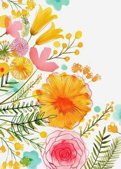 yao cheng design flower wreath in peach and yellow art