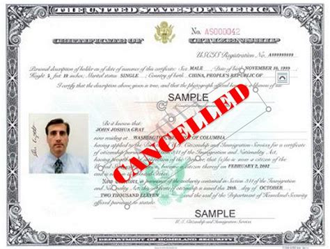 bureau naturalisation the immigration uscis may cancel certificate of