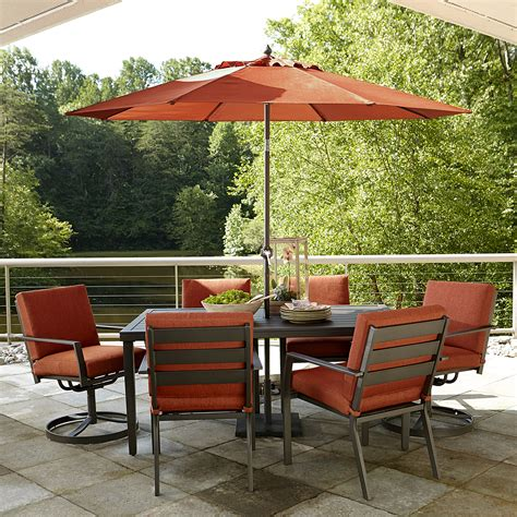 Outdoor Patio Dining Furniture Ty Pennington Brookline 7pc Dining Set Outdoor Living Patio Furniture Dining Sets