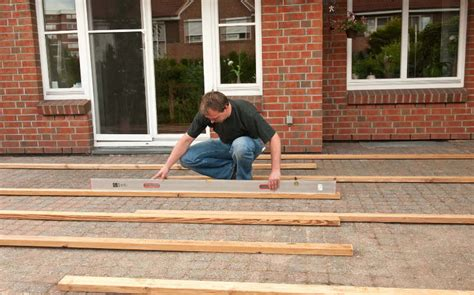veranda unterkonstruktion terrasse selber bauen anleitung in 4 schritten