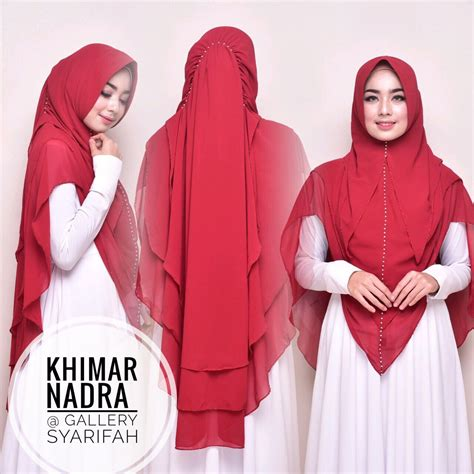 Khimar Hanum By Gallery Syarifah khimar nadra by gallery syarifah kerudung swarovsky ceruti