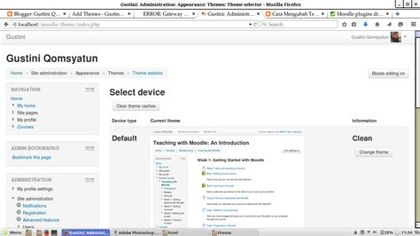 moodle theme selector cara mengubah template e learning di moodle pada linux