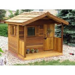 cedar shed log cabin cedar playhouse outdoor playhouses