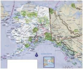 road map alaska usa image gallery large map alaska
