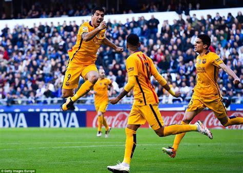 barcelona deportivo deportivo 0 8 barcelona luis suarez scores four and sets