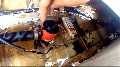 maxum boat bilge pump positioning a bilge pump and float switch in a boat youtube