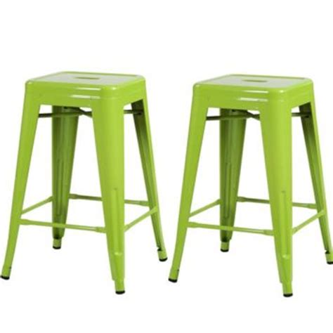 Lime Green Counter Stools by Lime Green Metal Industrial Backless From Your Bar Stool Store