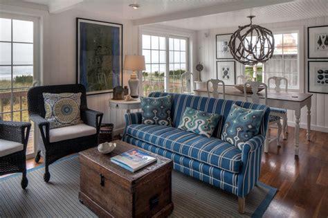 blue  white coastal living room  blue sofa hgtv