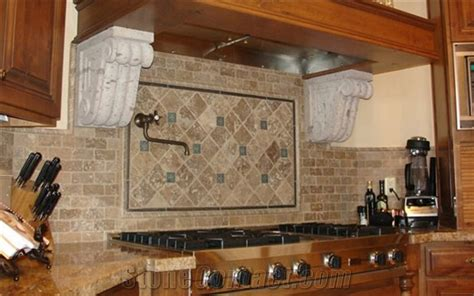 how to install a travertine backsplash travertine pavers