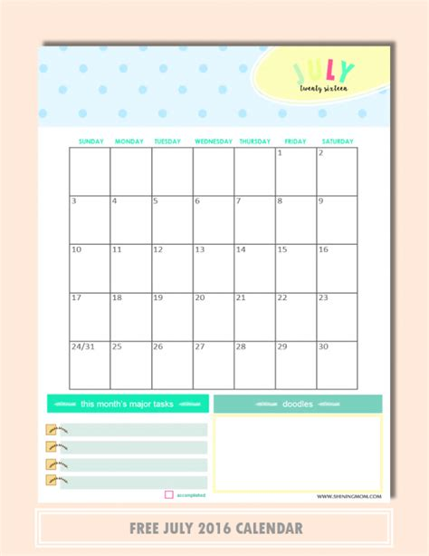 downloadable calendars you can type in calendar template