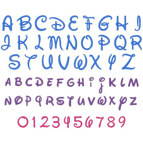 disney letter template free disney fonts