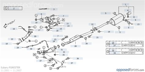 subaru forester exhaust system diagram 03 05 urgent help subaru forester owners forum
