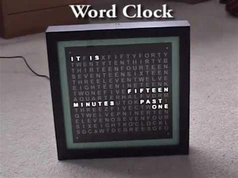 layout word clock word clock youtube