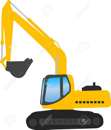 clipart vector vector clipart excavator pencil and in color vector