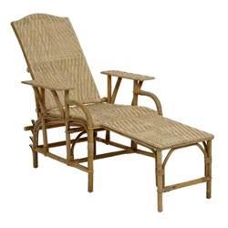 chaise longue en rotin naturel