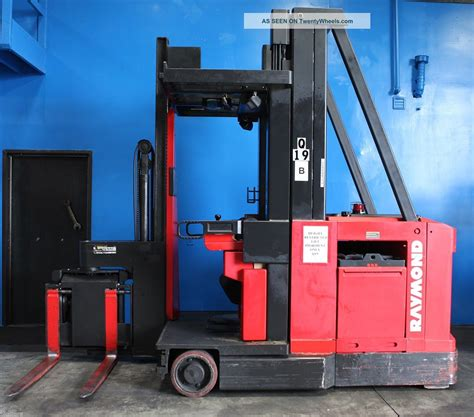swing reach forklift 3000 lbs raymond 537 csr30t electric swing reach