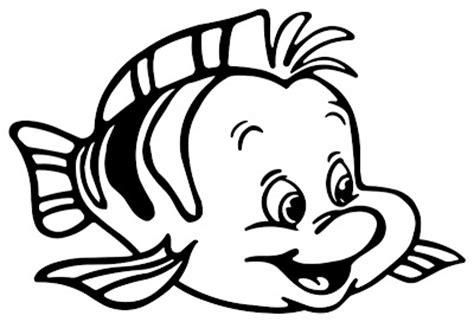 transmissionpress litle mermaid flounder fish animal coloring