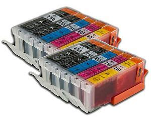 10pk pgi 250xl cli251xl pgi 250 xl cli 251 xl ink cartridges for canon mx5422 ebay