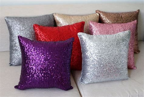 Decorative Cushions For Sofa Sofa Silver Throw Pillows Decorative Cushions Cover Sequin