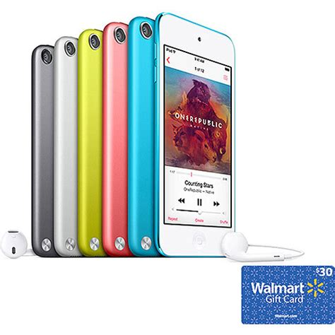 Ipod Touch Gift Card - ipod touch 16gb bonus 30 walmart gift card walmart com