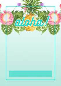 luau invitation template pineapple luau perimeter free printable birthday