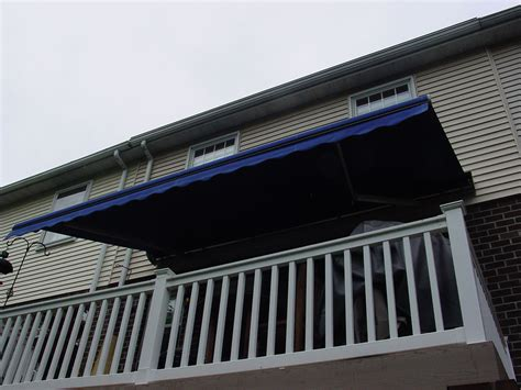 blue awning retractable deck awnings rainier shade