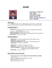 exles of resumes resume template summer objective